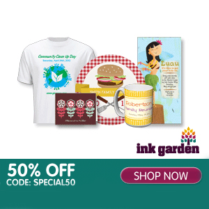 Ink Garden : 50% off any item