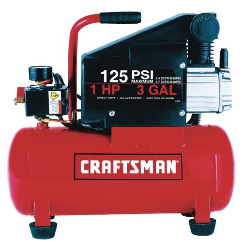 Craftsman 3-Gallon Air Compressor : $99.99