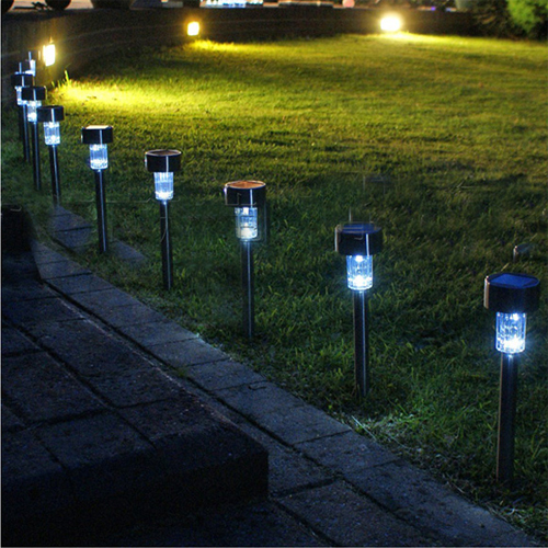Outdoor Lighting Clearance: 4 Pack Of Solar Lawn Lamps : $25.09 Shipped