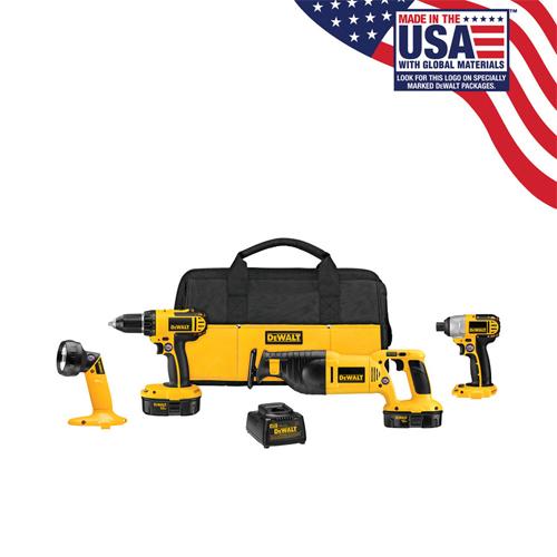 Dewalt 4-Tool Cordless Combo Kit : $219 + Free S/H
