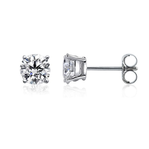 54% off 14k White Gold Round Diamond Stud Earrings : Only $146.94 + Free S/H