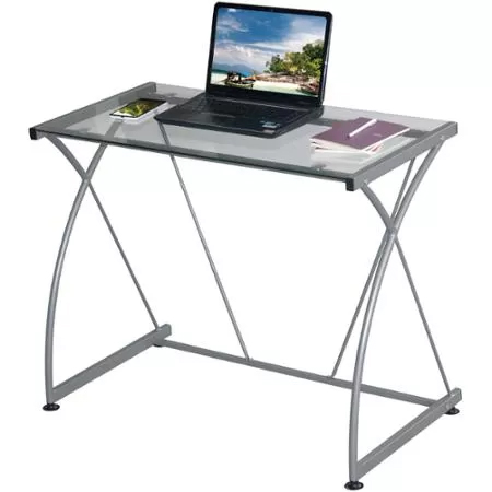 Glass-Top Computer Desk : Only $23.54
