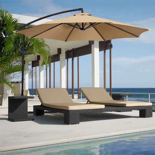 10′ Offset Hanging Patio Umbrella : $59.94 + Free S/H