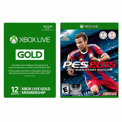 Xbox Gold Membership + Pro Evolution Soccer 2015 Game : $39.99 + Free S/H