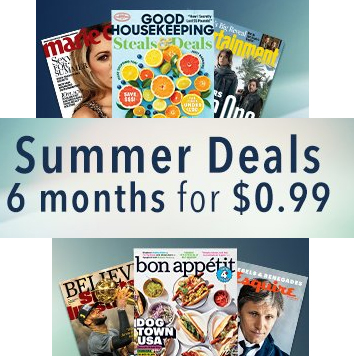 6-Month Magazine Subscriptions : Only 99¢
