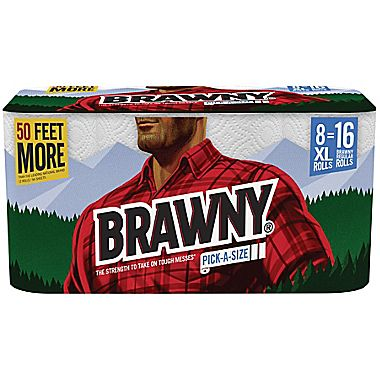 8-Pk of Brawny Paper Towels : $10.99