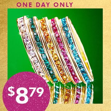Swarovski Crystal Stack Ring : $8.79