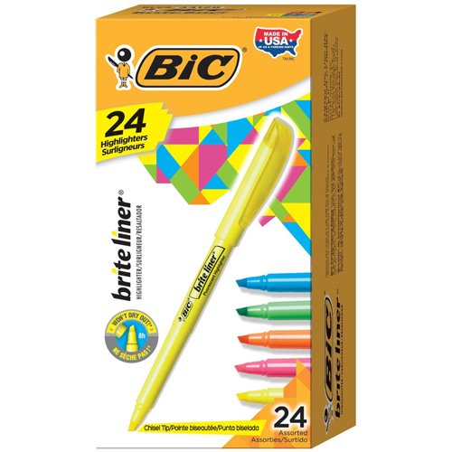 24-PK of Bic Highlighters : Only $5