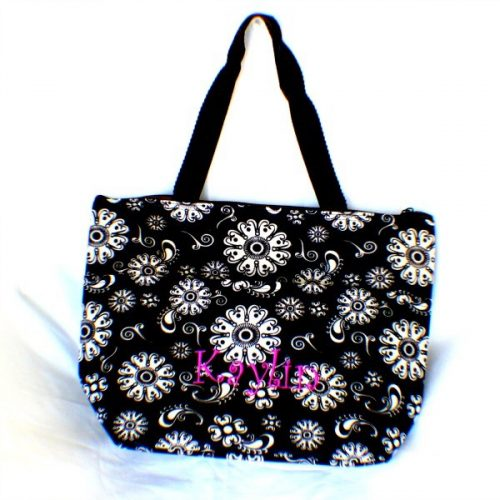 Monogrammed Floral Lunch Bag : $10 + Free S/H