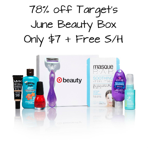 78% off Target June Beauty Box : $7 + Free S/H