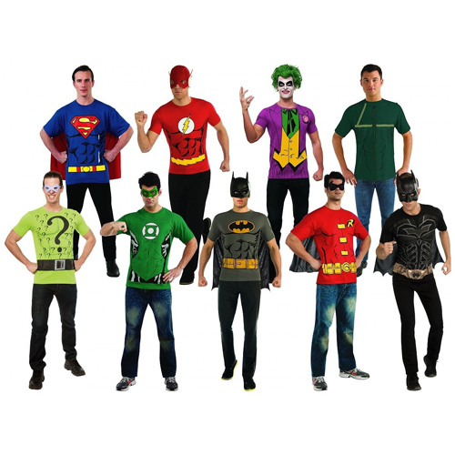 Superhero Adult T-Shirts : $14.59 + Free S/H