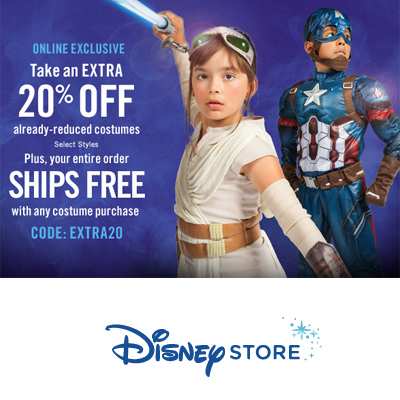 Disney Store : Extra 20% off + Free S/H on Already-Reduced Halloween Costumes
