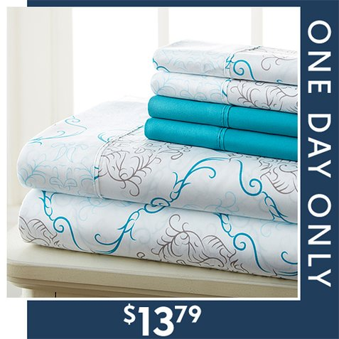 Up to 86% off Microfiber Sheet Sets : Only $13.79