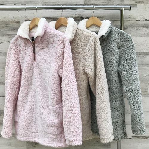 63% off Women's Sherpa Fleece Pullovers : Only $22.46