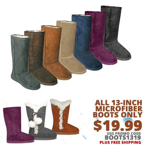 Women's 13″ Microfiber Boots : Only $19.99