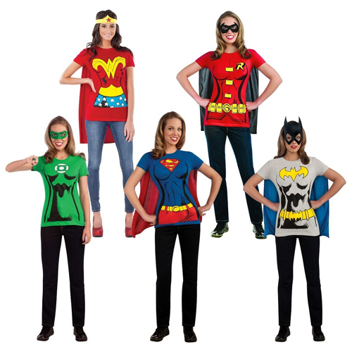 Women's Superhero Tees : $16.99 + Free S/H