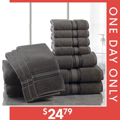 Up to 83% off 10- & 12-PC Bath Towel Sets : Only $24.79