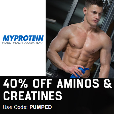 MyProtein : 40% off Aminos & Creatines