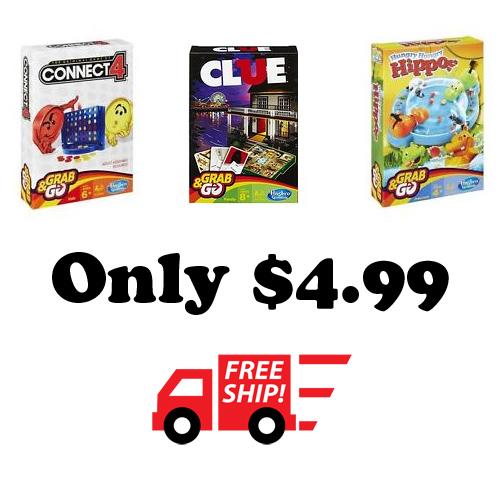Hasbro Grab & Go Games : $4.99 + 99¢ S/H