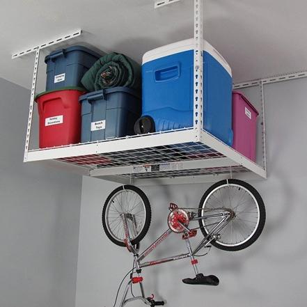SafeRacks 4′ x 4′ Overhead Storage Rack : $62.99