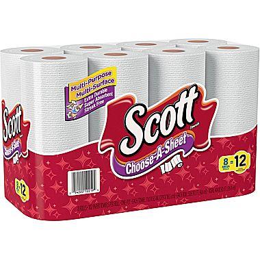 8 Mega Rolls of Scott Paper Towels : $6.99