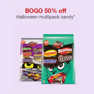 Halloween Candy : Buy 1, Get 1 50% off + Free S/H