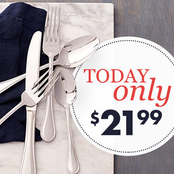 20-PC Wallace Flatware Sets : Only $21.99