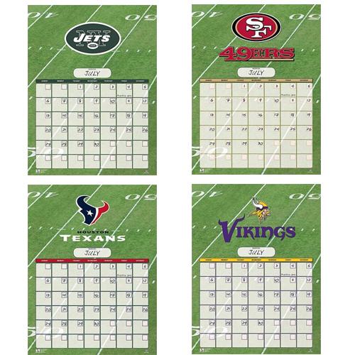NFL Perpetual Calendars : $3.99 + Free S/H