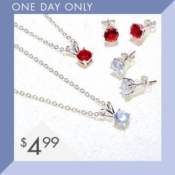 Swarovski Necklace & Earring Sets : Only $4.99