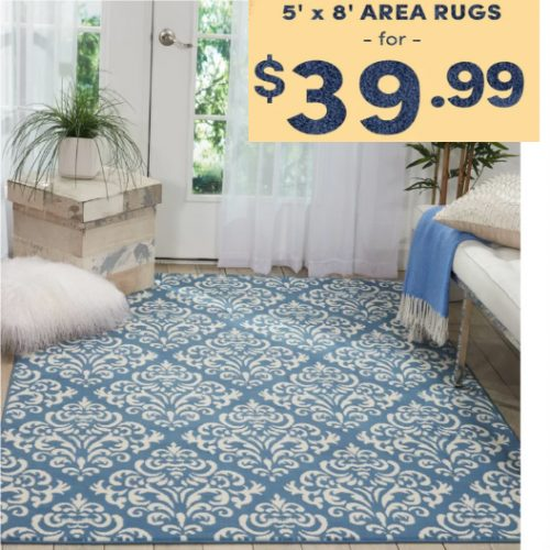 Up to 71% off 5 x 8 Area Rugs : Only $39.99