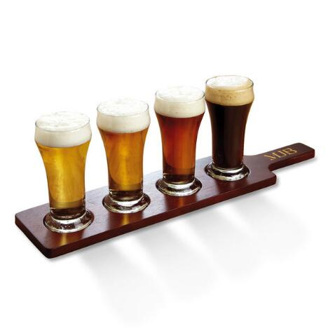 Personalized Beer Flight Set : $26.97 Shipped