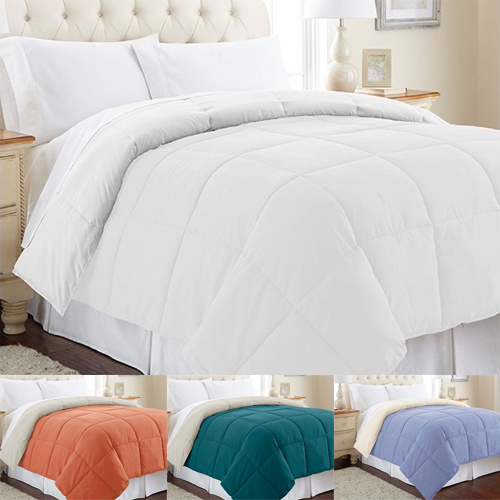 Up to 91% off Reversible Down Alternative Comforters : $17.79 any size
