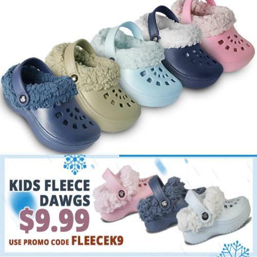 Kids' and Toddler's Fleece-Lined Clogs : $9.99 + Free S/H