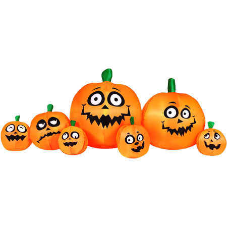 8.5′ Inflatable Light Up Pumpkin Patch Halloween Decoration : $29.50