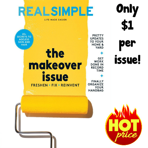50% off Real Simple Magazine Subscription : Only $11.95