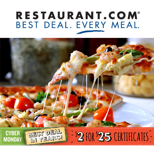 Restaurant.com : 80% off any order