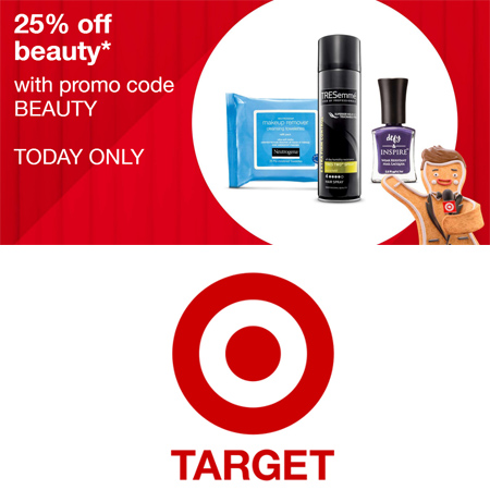 Target : 25% off + Free S/H on Beauty and Personal Care