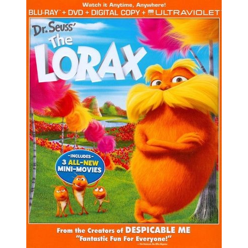 The Lorax on Blu-ray : $4.99 + Free S/H