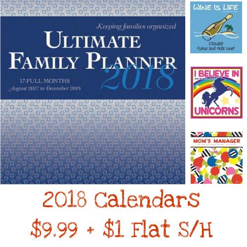 2018 Calendars : Only $9.99 + $1 Flat S/H
