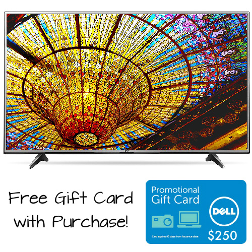 55″ LG Smart TV w/$250 Dell Gift Card : $699.99 + Free S/H