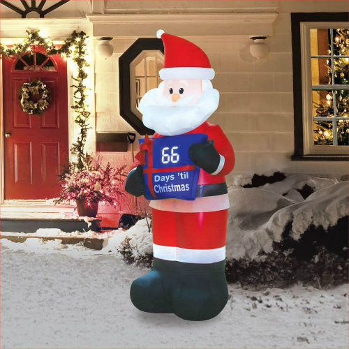 7 ft. Inflatable Santa with Electronic Countdown Sign : $39.99 + Free S/H