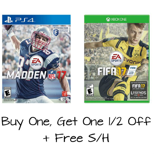 Select Video Games : Buy 1, Get 1 Half Off + Free S/H