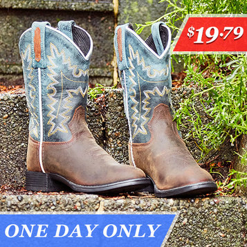 Kids' Cowboy Boots : Only $19.79