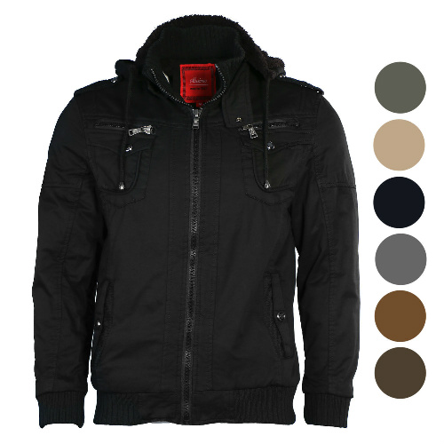 Men's Sherpa-Lined Bomber Jacket : $39.99 + Free S/H