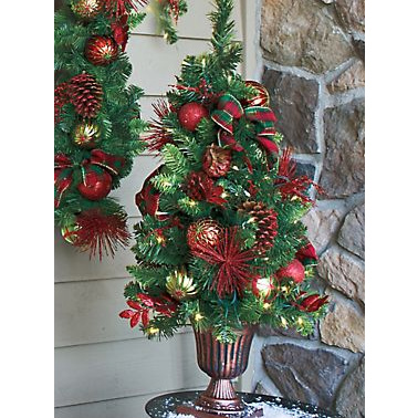 Perfectly Plaid Tree in Urn : $31.99 + Free S/H