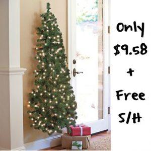 prelit-wall-hung-christmas-tree