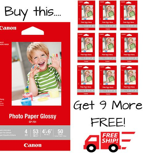 500 Sheets of 4×6 Photo Paper : $9.99 + Free S/H
