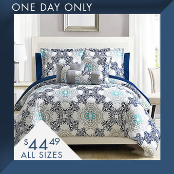 10-PC Comforter Sets : Only $44.49