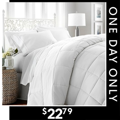74% off All Season Down Alternative Comforters : $22.79 any size