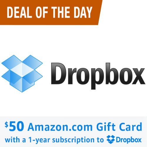 Dropbox Pro Subscription : $99 + Free $50 Amazon Gift Card